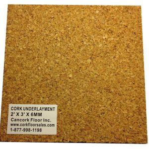 3mm cork underlayment sample