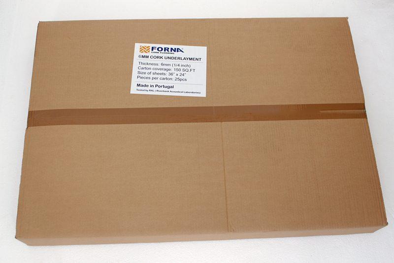 6mm cork underlayment forna box
