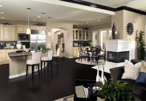 Jet black forna black cork flooring kitchen Interior iesign