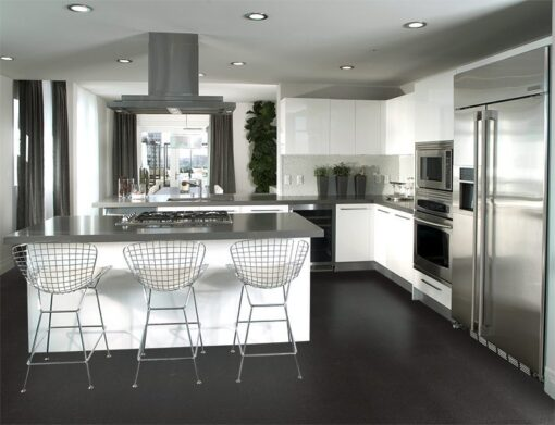Jet black forna cork tiles kitchen architecture images Interior design