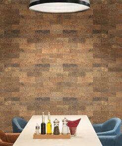 Restaurant wall tiles cork wall panels modern hotel interior