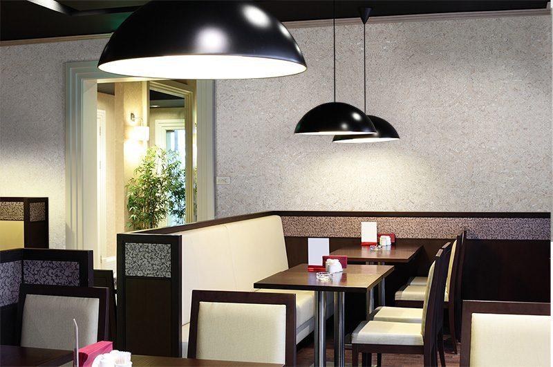 Restaurant wall tiles creme cork wall tiles modern hotel interior