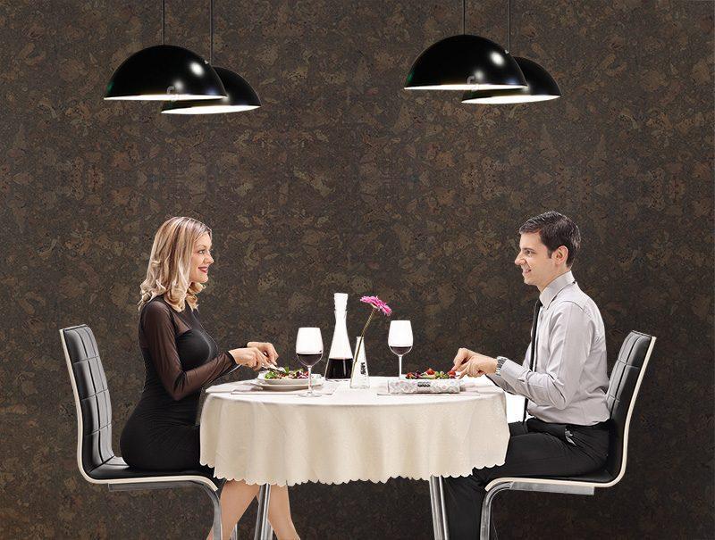 Restaurant wall tiles walnut burlwood cork wall tiles modern hotel private room interior