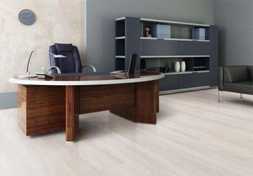 ash wood fusion cork floor modern office interior