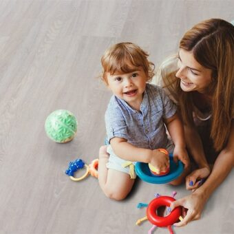 ash wood fusion cork flooring warm durable floor for kids play room