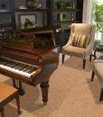 autumn leaves cork floor grand piano luxury home