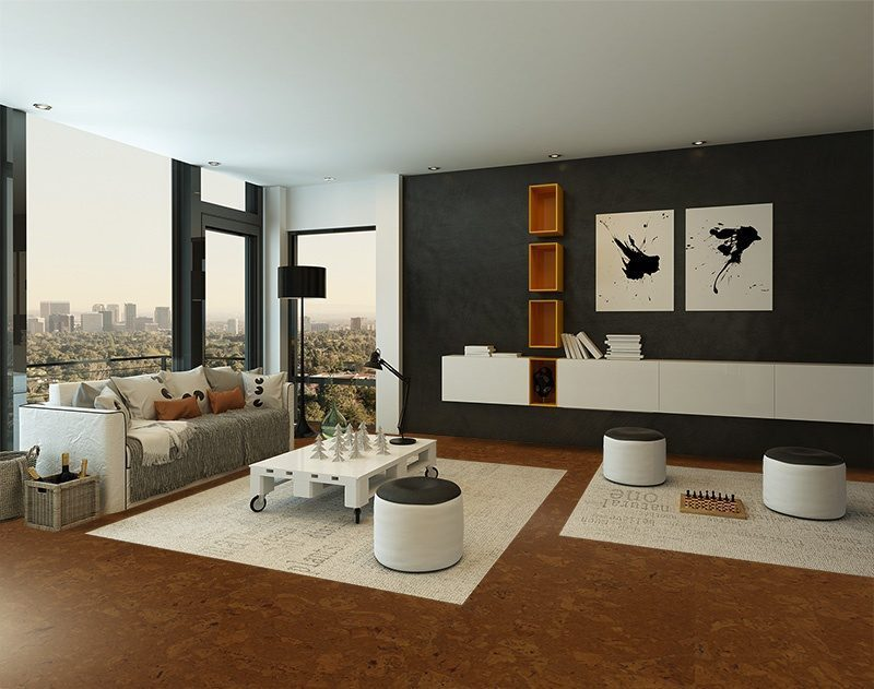 autumn ripple cork floor modern living room interior best appartment