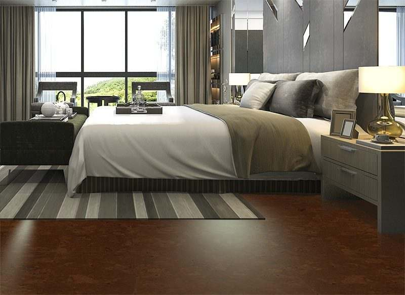 autumn ripple forna cork floor luxury modern hotel bedroom suite