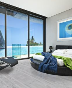 barn wood cork floor modern bedroom view of a beautiful seaside ocean cove