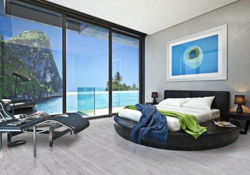barn wood cork floor modern bedroom view of a beautiful seaside ocean cove