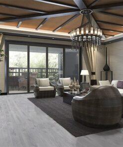 barn wood fusion cork floor tropical style resort suite living