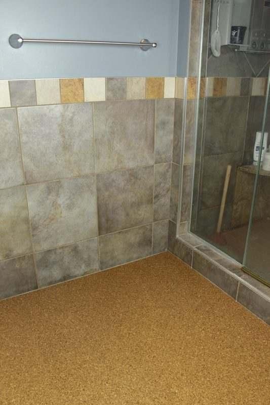 bathroom cork flooring water proof forna golden beach modern