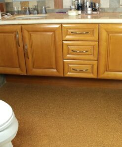 bathroom cork flooring water proof golden beach modern home