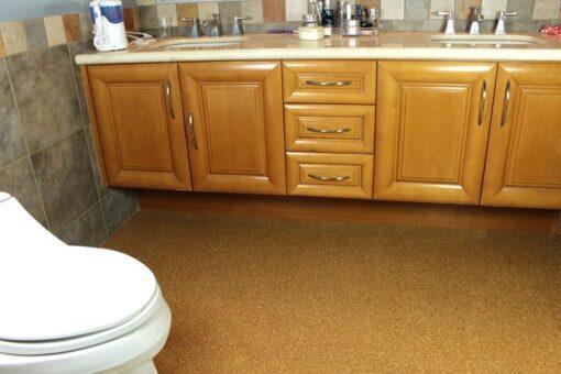 bathroom cork flooring water proof golden beach modern home