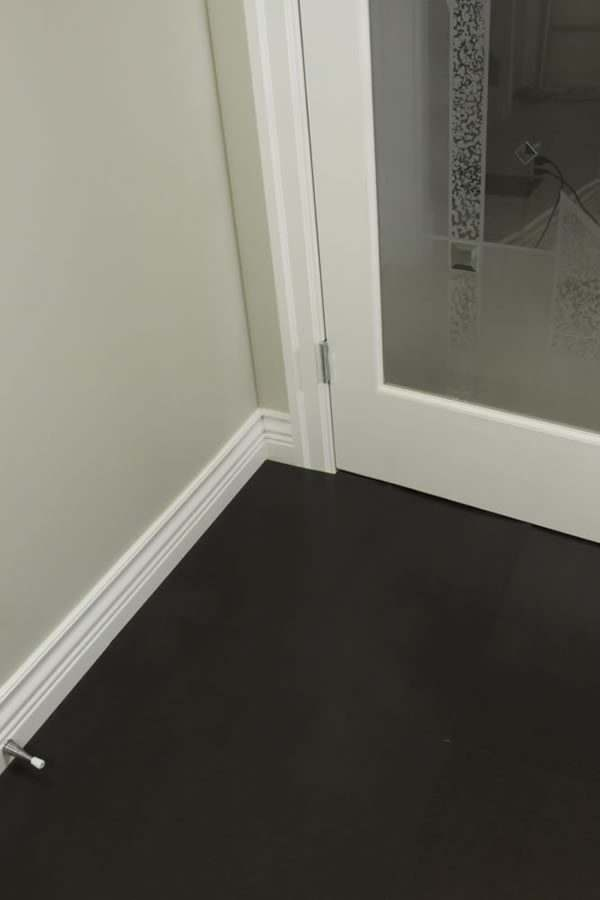 black cork flooring jet tiles office room