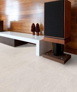 bleached birch cork floor contemporary home theater soundproof absorb echo