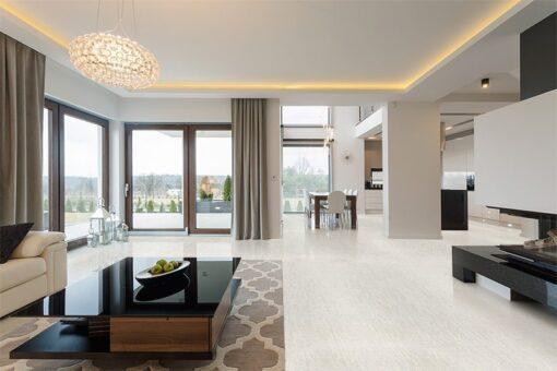 bleached birch cork floor living room furniture seaside background