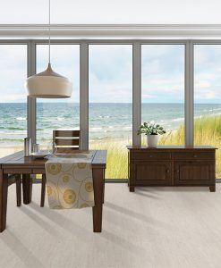 bleached birch cork floor living room furniture seaside background