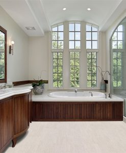 bleached birch cork floor master bath luxury home wood cabinetry