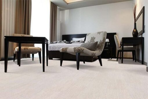 bleached birch cork floor modern hotel room