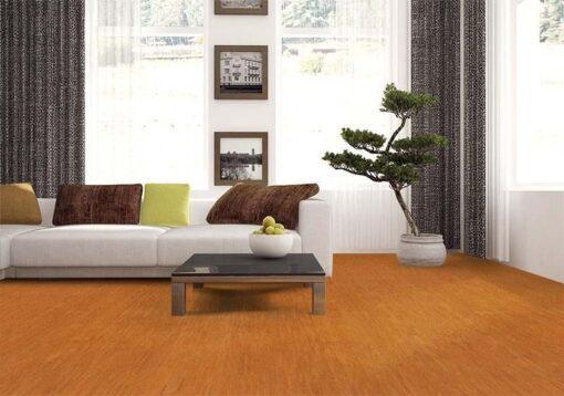 brown birch forna cork floor interior design panoramic windows sofa scandinavian style
