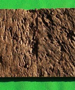 brown bricks cork wall panels sample