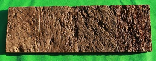 brown bricks cork wall panels sample