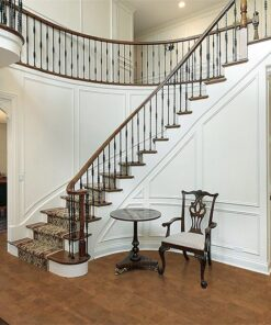brown leather cork floor foyer luxury home