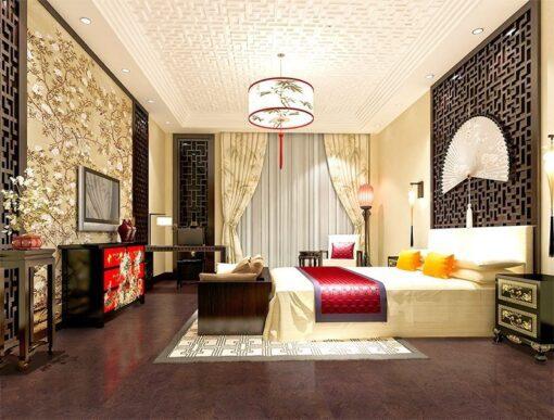 brown salami cork floor modern hotel room