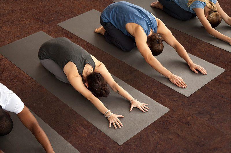 brown salami cork yoga exercise working out studio healthy flooring Best Flooring For Allergies