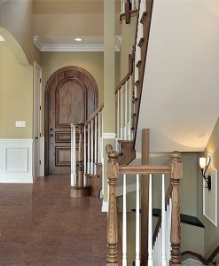 brown salami forna cork floor entryway foyer front door