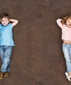 brown salami forna cork flooring best kids room Best Flooring For Allergies