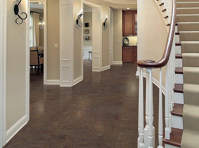 Foyer House Cork : Dark cork flooring brown salami mm floating