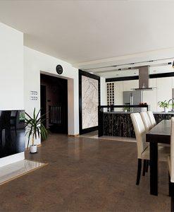 brown salami urban apartment contemporary interior modern black open kitchen
