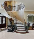 ceramic marble cork flooring foyer luxury home circular staircase