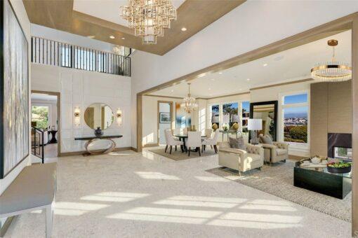 ceramic marble cork flooring foyer luxury home second floor window