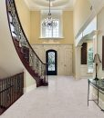 ceramic marble cork flooring foyer luxury home second floor window