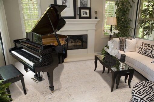 ceramic marble cork flooring living room with piano room