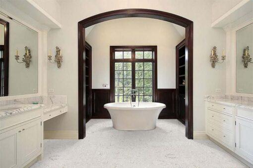 ceramic marble forna glue down cork tiles master bath luxury home dark wood cabinet