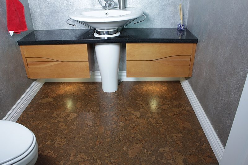 cork bathroom floor tasmanian burl