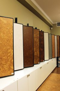 cork flooring showroom