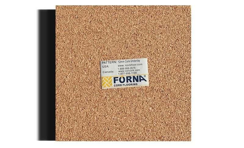 cork underlayment 12mm sample