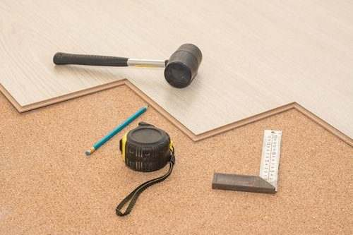 Cork Underlayment Installation Under Hardwood Floating