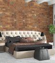 cork wall panels bedroom interior 3d illustration