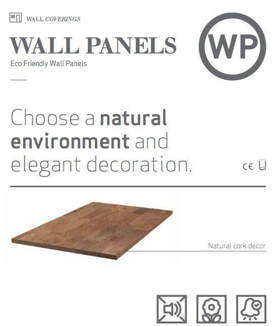 cork wall panels covering forna