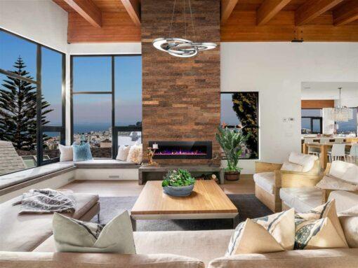 cork wall panels living room interior