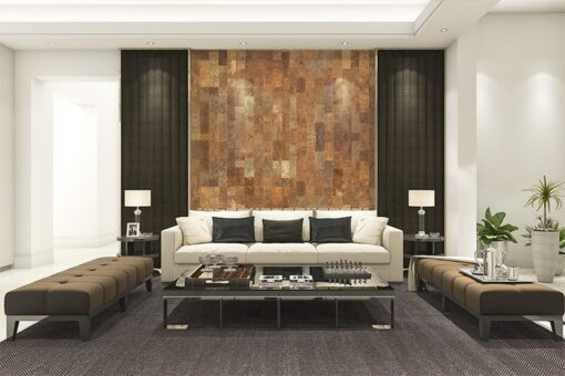 cork wall panels tiles forna acoustic insulation luxury and modern living room