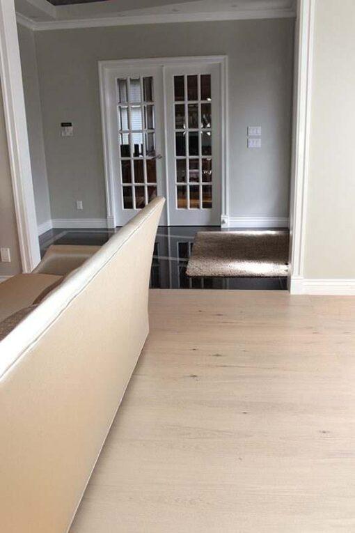 cork wood flooring oak creme livingroom