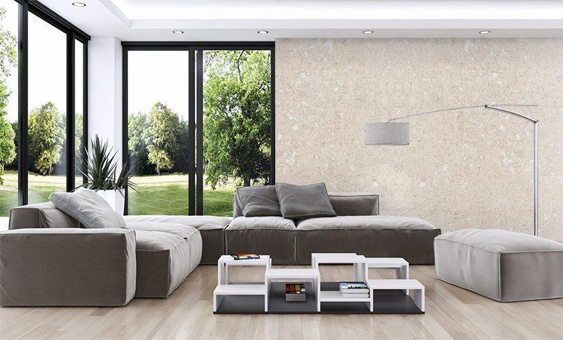 Creme Wall Tiles Forna Cork Living Room With Windows