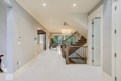 creme royal marble cork floor 3d rendering home interior